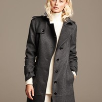 Charcoal Wool Trench