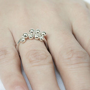 Grape Silver Ring Sterling Ring .925 Silver Ring Personalized Ring
