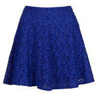 Indigo Lace Skater Skirt - New In This Week - New In - Topshop USA
