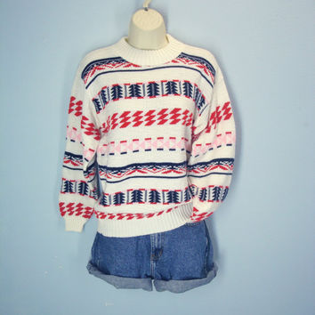 Vintage 70s Sweater, Southwestern Sweater, Navajo Sweater, Ski Sweater, Lodge Sweater