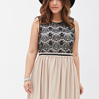 Eyelash-Lace Combo Dress
