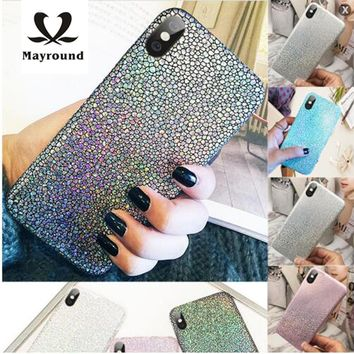 Lady Bling Sparkle Phone Case Trendy Slim Durable Fit For Apple iPhone X ten 10