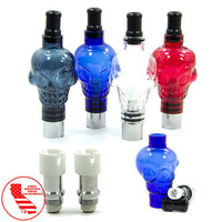 Glass Dome Wax Skull 4 Colors 2 Bonus Coil Heads 510 Thread Removable Tip