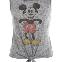Mickey Mouse Tie Front Vest - Tops - Apparel - Miss Selfridge US