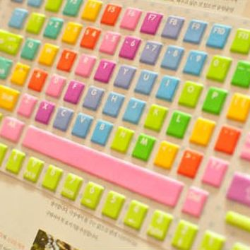 Rainbow Color Keybaord Protective Film [590]