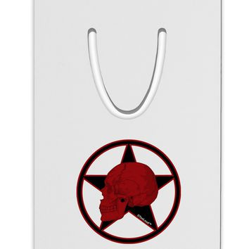 Blood Red Skull Aluminum Paper Clip Bookmark by TooLoud