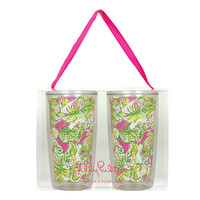 Lilly Pulitzer Insulated Tumbler Set- Elephant Ears