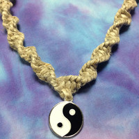 Yin Yang Hemp Necklace