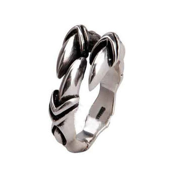 Eagle Ring Claw Talon Men's Styles Cool Jewelry .925 Thai Silver-Size 10