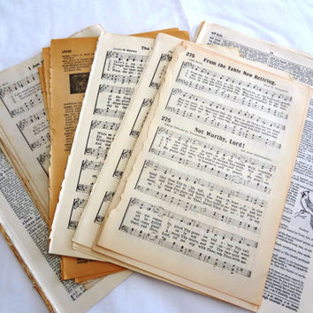Lot Vintage Book Pages, Ephemera  for Altered Arts, Inspiration Kit, Art Journals, Junk Journals, Smash Books, Collage, Mail Art, Assemblage