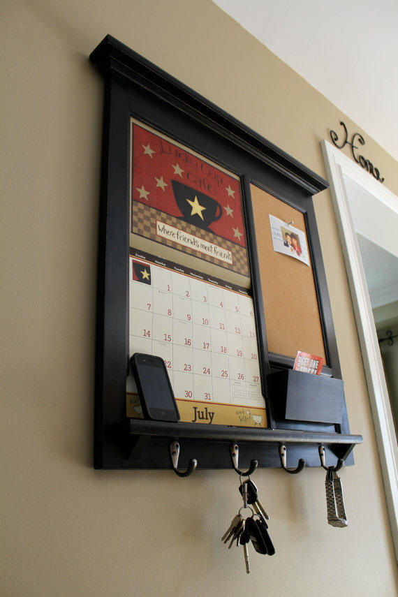 framed furniture calendar mail organizer from