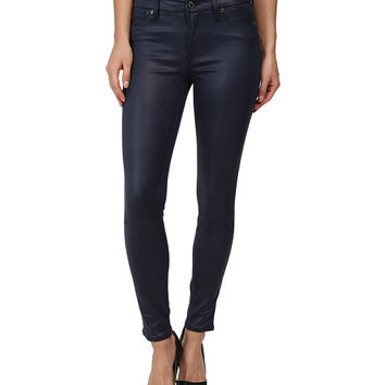 7 For All Mankind Ankle Knee Seam Skinny w/ Contour Waistband in Deep Navy Deep Navy - 6pm.com