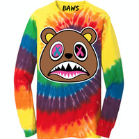 CRAZY BAWS Tye Dye Long Sleeve Shirt - RAINBOW