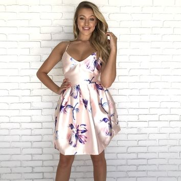 Foiled In Floral Babydoll Dress