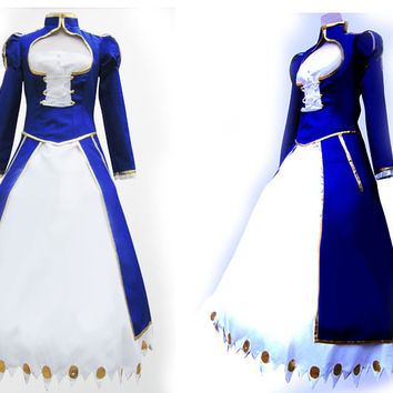 Saber Dress Custom, Saber Costume, Saber Cosplay Costume