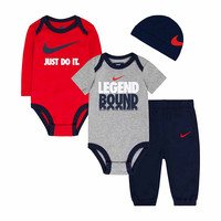 Nike® 4-pc. Obsidian Legend Logo Bodysuit Set - Baby Boys newborn-24m - JCPenney