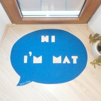 Supermarket: Speech bubble rug