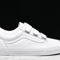 OLD SKOOL V LEATHER - TRUE WHITE