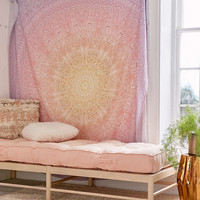 Ombre Ikat Medallion Tapestry - Urban Outfitters