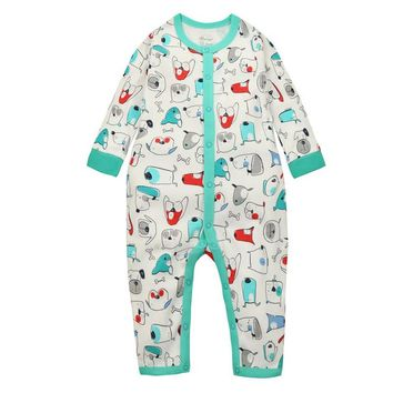 y372 Siamese baby clothes newborn spring and winter male and female baby Romper cotton climbing clothes puppy pattern