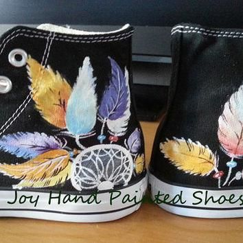 Dreamcatcher Sneakers Dream Catcher Converse Hand Painted Shoes