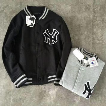 PEAPUF3 Winter MLB baseball clothing coat jacket couple NY embroidery baseball men and women coat G-YF-MLBKS