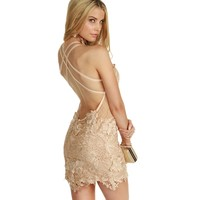 Natural Last Call Lace Dress