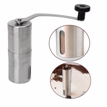 Stainless Steel Manual Coffee Bean Grinder Mill Hand Grinding Kitchen Tool