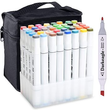 Markers 30 40 Color Art Drawing Twin Tips New Copic Style alcohol marker pen FG