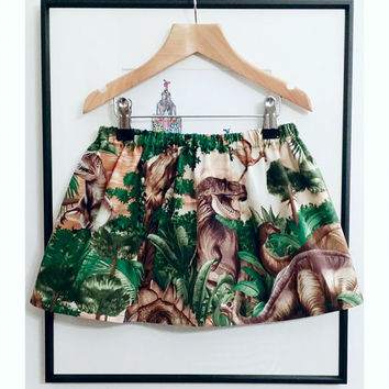Land Before Time Skirt - Handmade in dramatic Dinosaur fabric that is full of life and fun! For Fossil Hunters and Jr Paleontologists!
