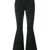 Dolce & Gabbana Floral Patch Flared Trousers - Farfetch