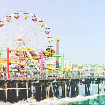 SALE! Set of (2) Santa Monica Beach Pier 8x10 California Summer Los Angeles Photography