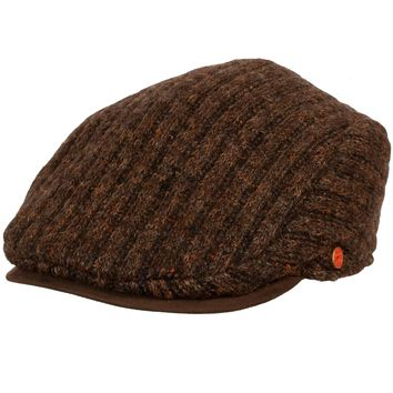 Matteo Ribbed Knit Ivy Cap with Earflaps by Mayser