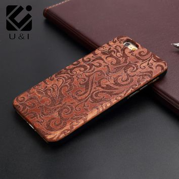 Wood Phone case For Apple 6 6s 6 plus 6s plus, PC + rosewood sculpture Cover for