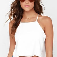 I'm Your Girl Ivory Crop Top