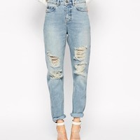 ASOS | ASOS Original Rigid Mom Jeans in Naomi Wash at ASOS