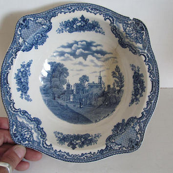 Old Britain Castles Johnson Bros Bowls Castle Blue and white Bowls Farmhouse decor Farmhouse China Castle Pattern China Johnson Bros
