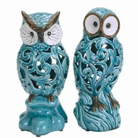 Owl with New Design Pattern (Set of 2)