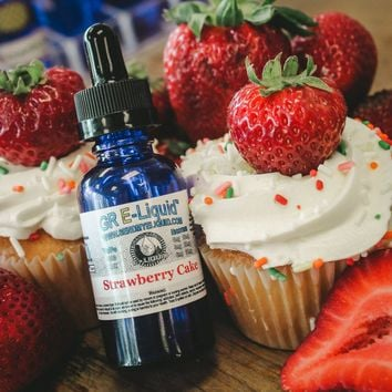 """Strawberry Cake"" Premium E-Liquid"