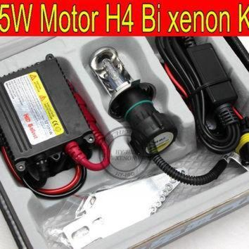 CREYUG7 Free Shipping 1 set Top quality 35W H4 Hi/low bi xenon Motorcycle HID Conversion Kit/X