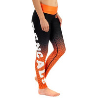 Cincinnati Bengals Women's Gradient Leggings – Black