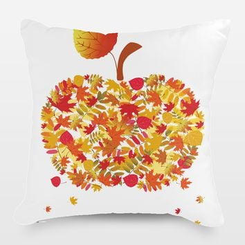 Autumn Apple Throw Pillow by Playedonwalls on BoomBoomPrints