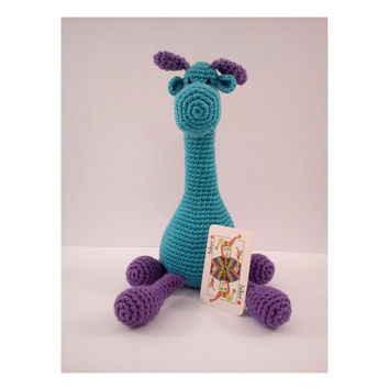 Amigurumi DIY GIFEE Crochet PATTERN Giraffe Amigurumi pattern Stuffed toy pattern Crochet toy pattern Baby toy pattern Soft toy Purple green