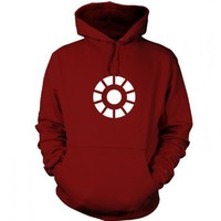 Something Geeky PP - Arc Reactor Adult Hoodie Inspired By Iron Man  The Avengers