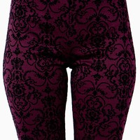 Flocked Damask Legging