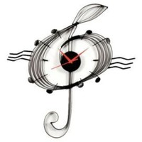 One Kings Lane - Ashton Sutton - Music Clef Wall Clock I