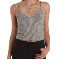 Cropped Sweater Knit Tank Top by Charlotte Russe