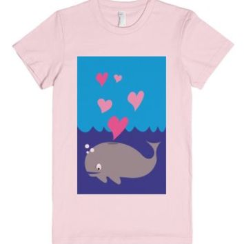 Whale Love-Unisex Light Pink T-Shirt