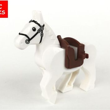MOC bricks Xinh598 White Knight Horse The Lord of the Rings the Hobbits Building Blocks figure Kids DIY Toys Christmas Gifts