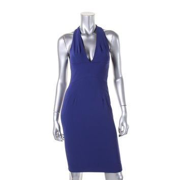Zac Posen Womens Organza Halter Cocktail Dress